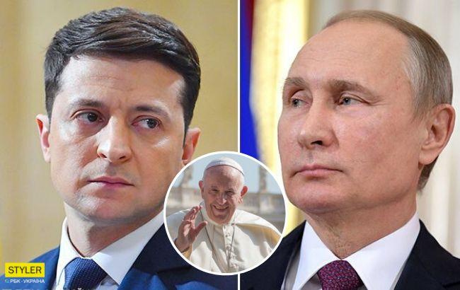 Папа Римський зробив гучну заяву про зустріч Зеленського з Путіним
