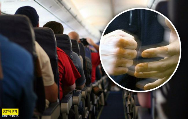 В украинском самолете пассажира чуть не убили за пьянство: выбили зубы и били по голове