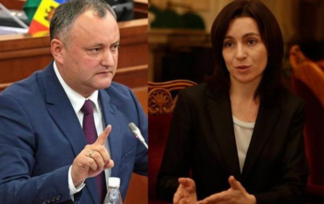 Фото: Игорь Додон и Майя Санду вышли во второй тур выборов президента в Молдове