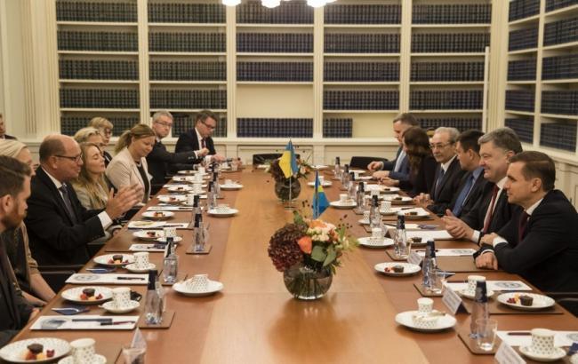Фото: Петро Порошенко зустрівся зі спікером шведського парламенту