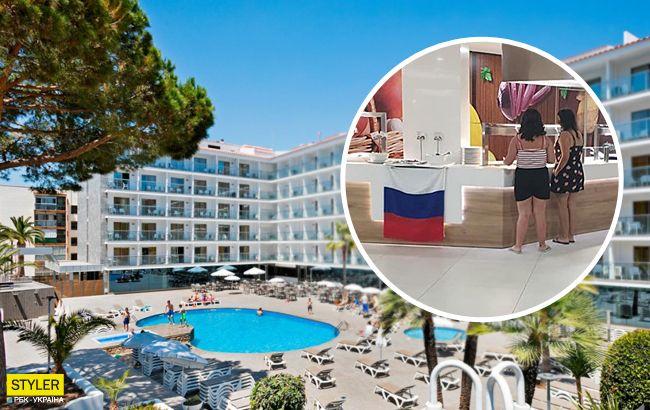 Вивісили прапор РФ і знущалися над українцями: курорт в Іспанії потрапив у скандал