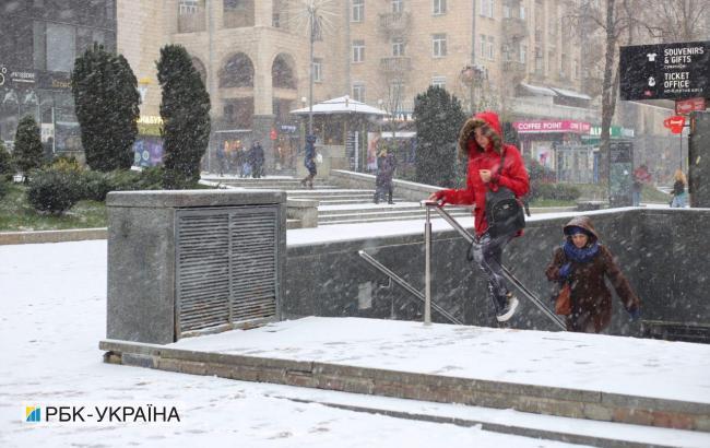 У Києві випав перший сніг