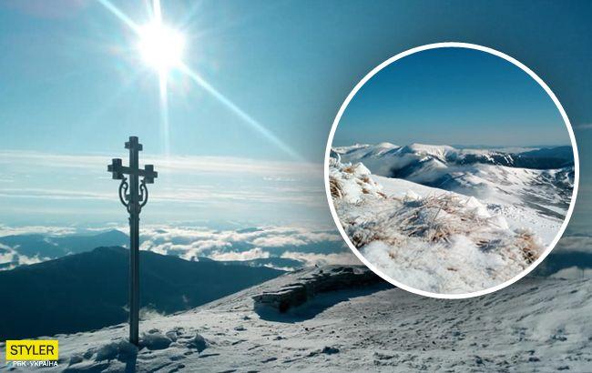 Українські Карпати засипало снігом: з'явилися фантастичні фото