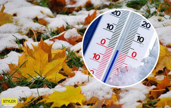 Україну восени накриє снігом: перепад температури буде різким і суттєвим