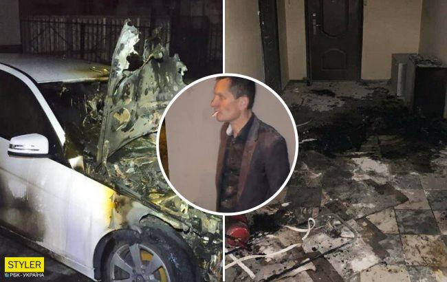 В Киеве экс-депутат устроил погром жене: сжег машину и хотел подпалить квартиру