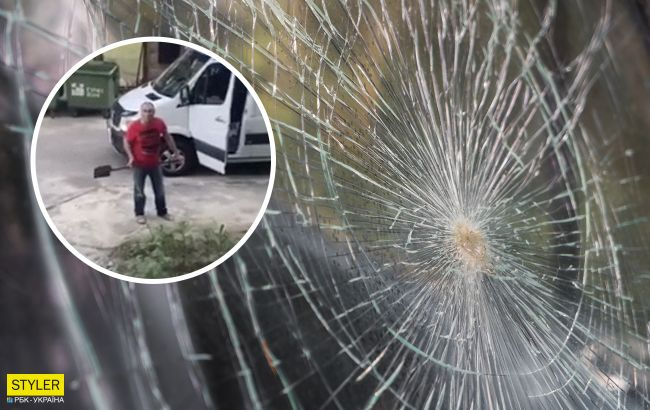 У Житомирі чоловік лопатою побив вікна сусідам: не дозволяли паркуватися на клумбі з квітами