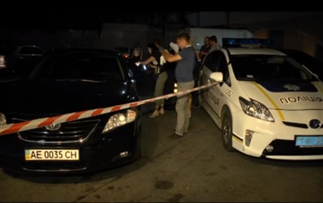 """Фото: перестрілка в Дніпрі (скріншот відео """"9 каналу"""")"""
