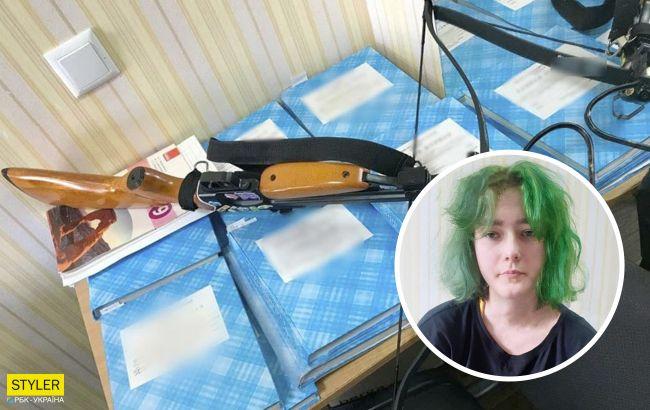 """Студентка з Полтави, яка стріляла з арбалета по вчителях, відзначилася заявою: """"вбивати не хотіла"""""""