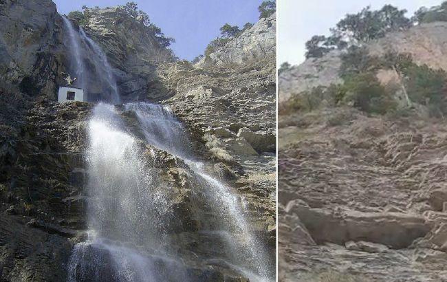 В Крыму пересох крупнейший водопад: удручающее видео