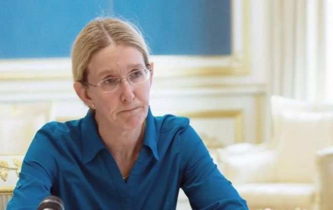Фото: в. о. міністра охорони здоров'я Уляна Супрун