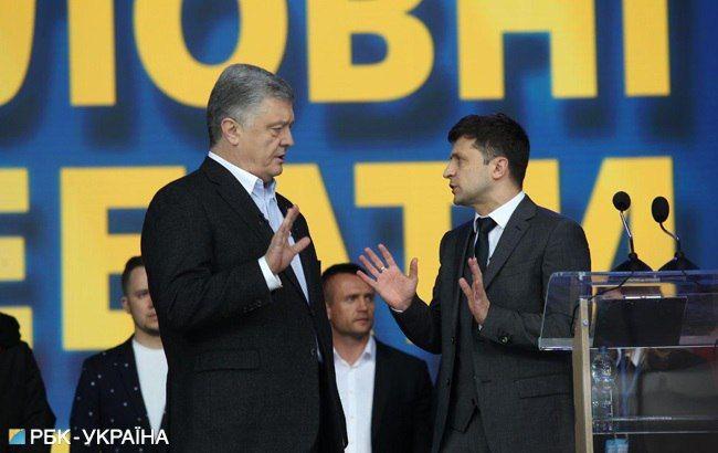"""Неспортивна розмова: як пройшли дебати Зеленського та Порошенка на """"Олімпійському"""""""