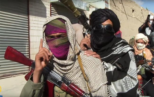 """Фото: бойовики """"Талібану"""" в Афганістані (YouTube screenshot)"""