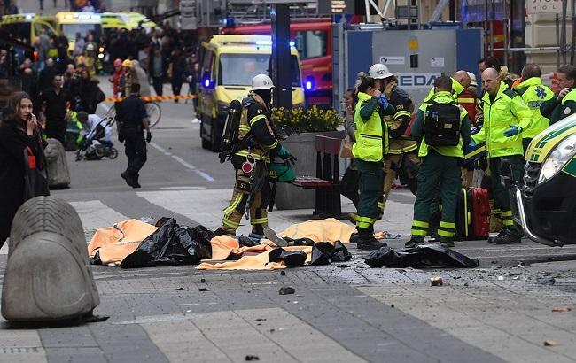 Фото: опубликовано видео теракта в Стокгольме