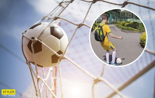 """У Харкові юний блогер оригінально """"змушує"""" людей грати в футбол: відео вразило мережу"""