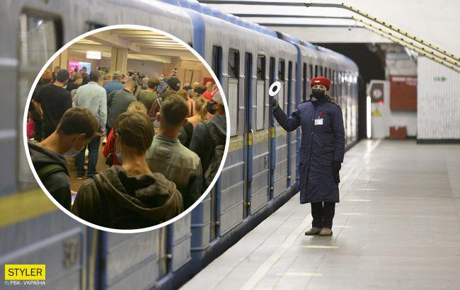 В киевском метро произошел коллапс: люди не могут попасть в подземку