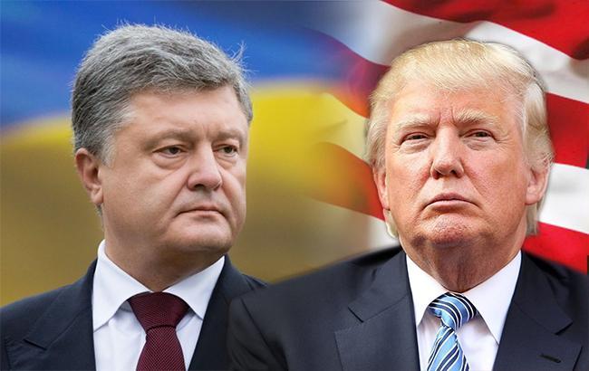 Фото: Петро Порошенко і Дональд Трамп (колаж РБК-Україна)