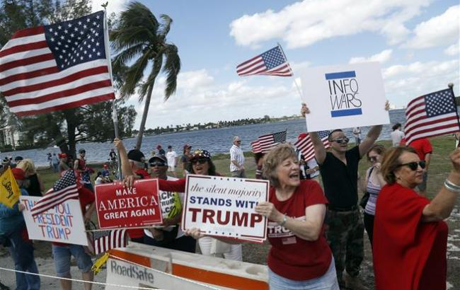 Сторонники ипротивники Трампа устроили драку вКалифорнии