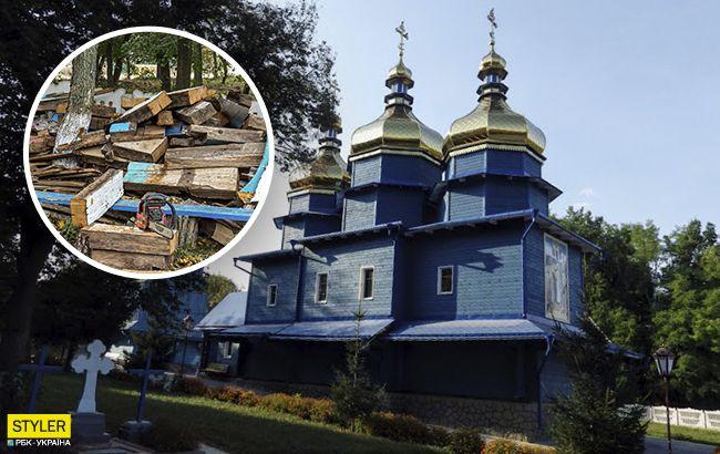 Парафіяни УПЦ МП зруйнували унікальний козацький храм: буде як новий