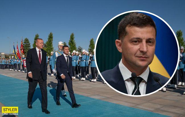 З'явилося відео конфузу Зеленського під час зустрічі з Ердоганом