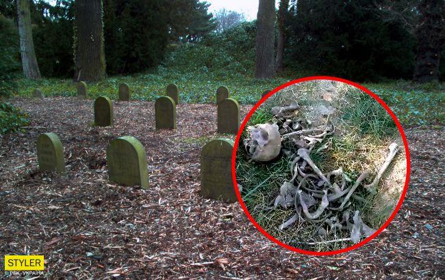 Под Сумами на кладбище для животных нашли останки человека: лежали прямо на могиле