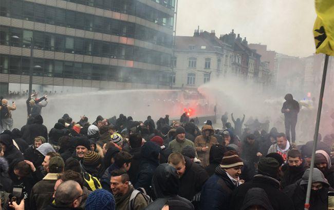 В ходе протестов в Брюсселе задержали почти 70 активистов
