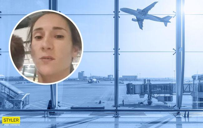 Украинская спортсменка бомжует с детьми в аэропорту Хитроу из-за МАУ (видео)