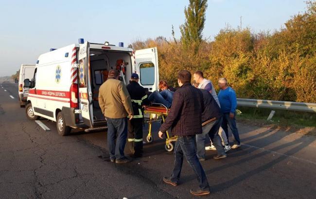 В Черкасской области группа детей попала в ДТП, есть пострадавшие