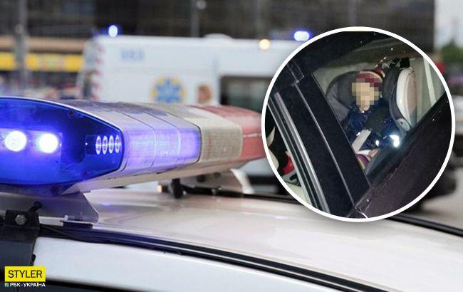 В Киеве горе-мать заперла ребенка в машине: женщину искали всем районом