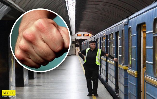 У метро Києва сталася епічна бійка: справжній поєдинок (відео)