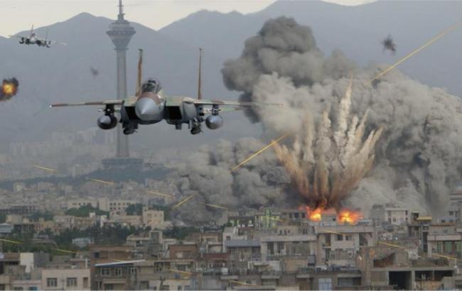 Фото: авіаудар в Сирії