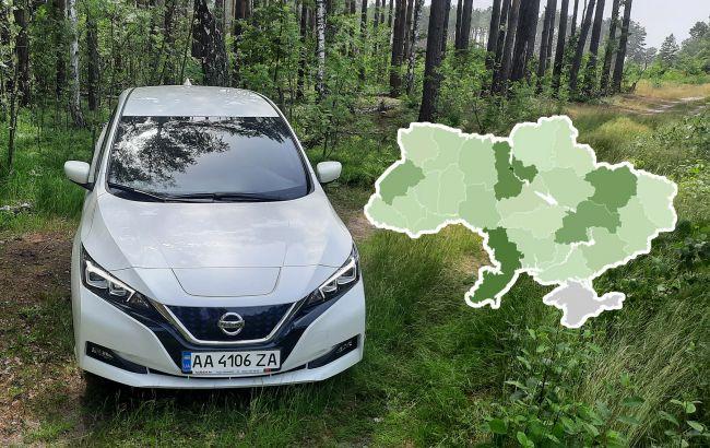 Стало известно, в каких областях Украины больше всего электрокаров