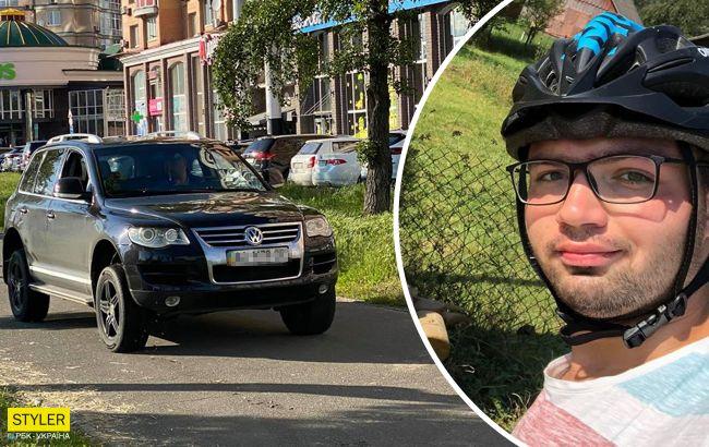 В Киеве водитель избил велосипедиста, и полиция открыла криминал ...