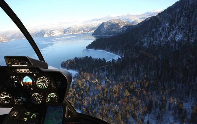 Фото: на Алтае потерпел крушение вертолет