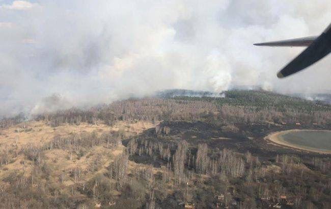 Пожар в Чернобыльской зоне потушили