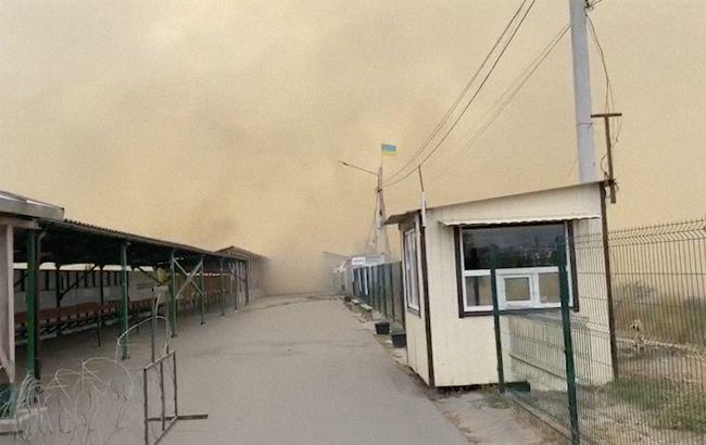 "На КПП ""Станица Луганская"" пожар частично повредилэлементы инфраструктуры"