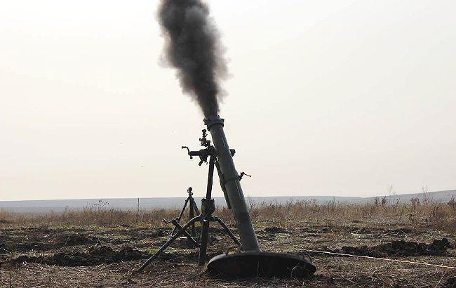Фото: постріл із міномету (facebook.com/ato.news))