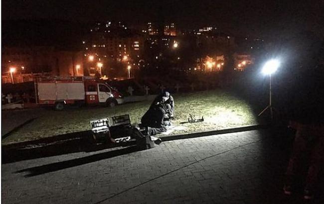 Фото: взрыв во Львове (city-adm.lviv.ua)
