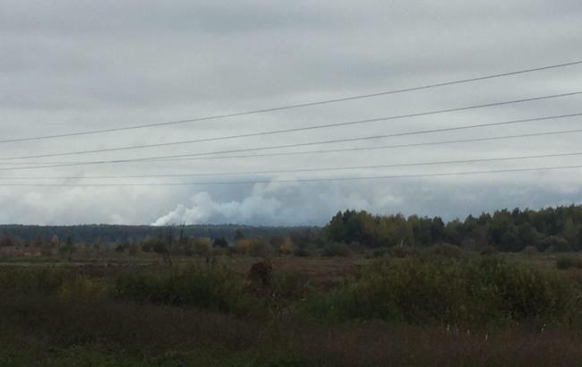Фото: взрывы в Черниговской области (РБК-Украина)