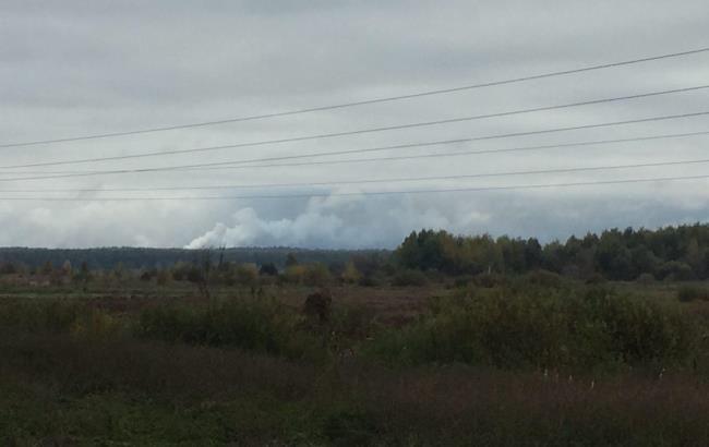 Фото: вибухи на військових складах Чернігівської області (РБК-Україна)