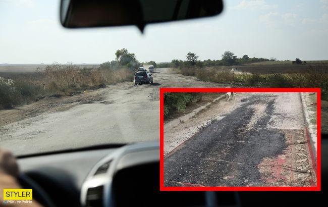 В Крыму креативно решили вопрос асфальтирования дорог: фотофакт