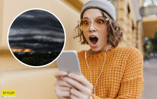 В Запорожье над небом зафиксировали необычное явление: фото поражают