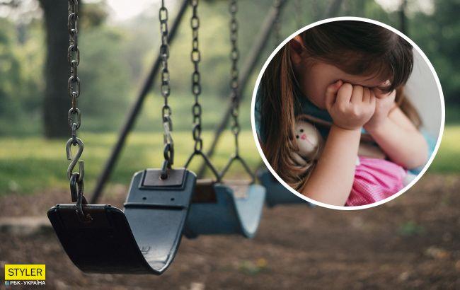 В Херсоне горе-отец забыл на детской площадке 7-летнюю дочь: сидела на лавочке до ночи