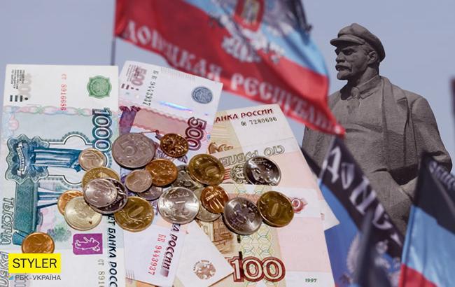 """Зарплати в """"ДНР""""  (Колаж РБК-Україна)"""