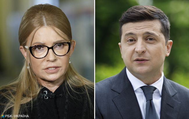 Зеленський та Тимошенко - лідери довіри українців у березні, - КМІС