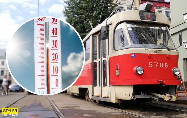 Случаются приступы:в каком общественном транспорте в Киеве жарче всего (видео)
