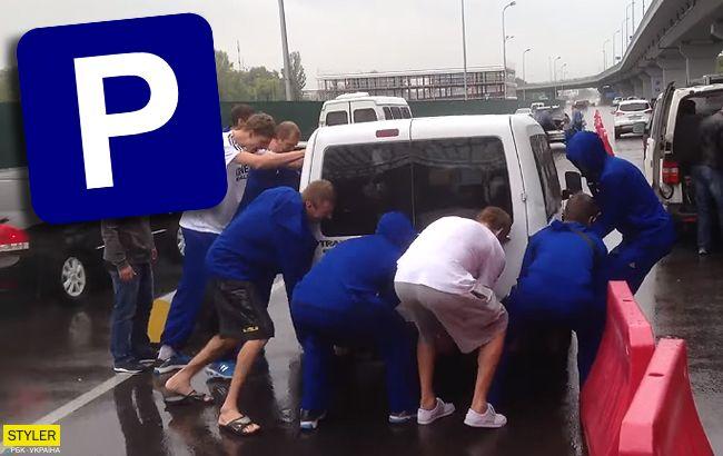 """В """"Борисполі"""" баскетболісти провчили автохама: з'явилося відео"""