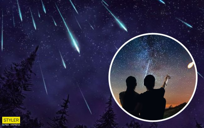 Украинцы этой ночью смогут увидетьярчайший звездопад Персеиды