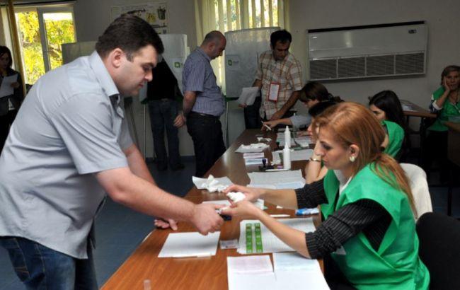Фото: голосование на выборах в Грузии