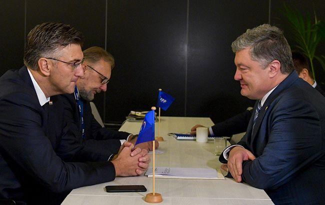 Фото: Петр Порошенко и Андрей Пленкович (president.gov.ua)