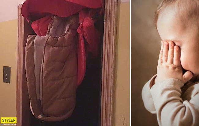 В Киеве кабина лифта чуть не убила няню и младенца